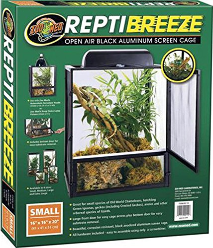Zoo Med ReptiBreeze Open Air Screen Cage, Small, 16 x 16 x 20-Inches (Cage Large Reptile)