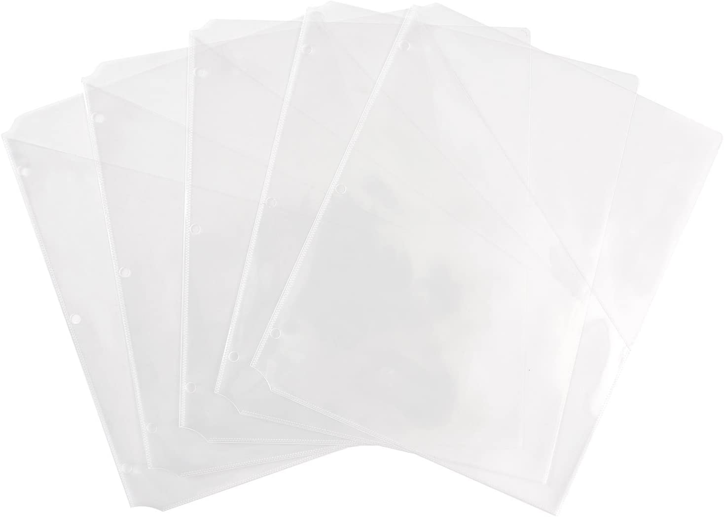 """Avery Binder Pockets, Clear, 8.5"""" x 11"""", Acid-Free, Durable, 5 Slash Jackets (75243) : Office Products"""