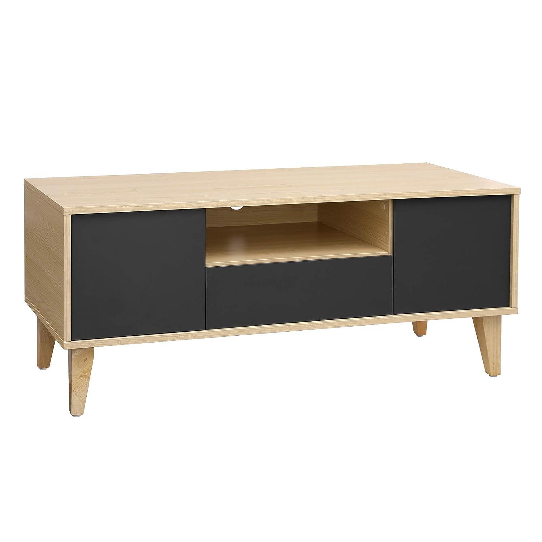 VASAGLE Mesa para TV Moderna, Mueble para TV con Cajón, 2 ...
