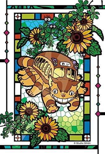 126 pieces Jigsaw puzzle Surrounded by My Neighbor Totoro sunflower 【Art Crystal Jigsaw】 (10 x 14.7 cm)