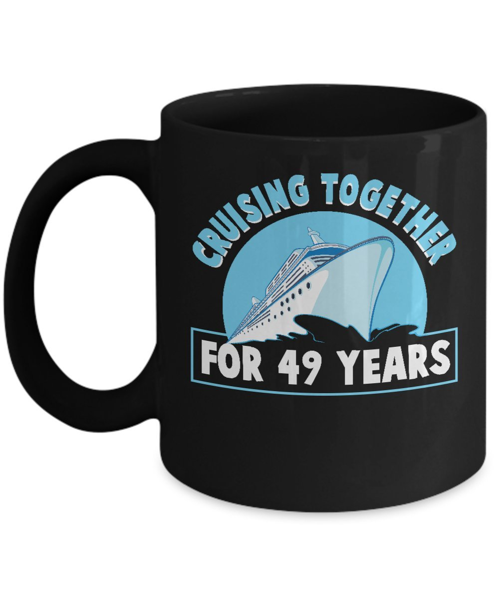 Amazon.com  Cruise Mug For Men Women. Best 49th Wedding Anniversary Gifts  For Couples  Kitchen   Dining 346f462e78