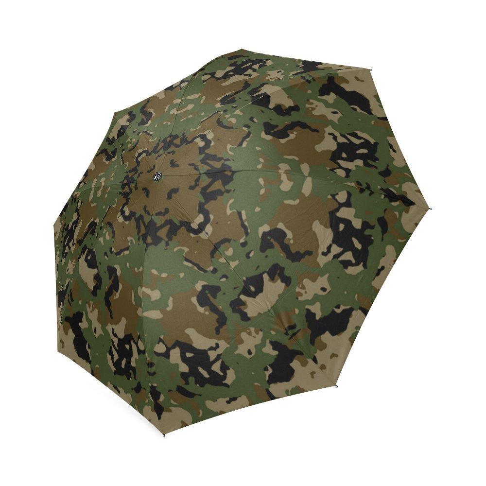 hot sale Green Camouflage Camo Design Storm-Resistant Umbrella Compact Folding Travel Rain/Sun Umbrella