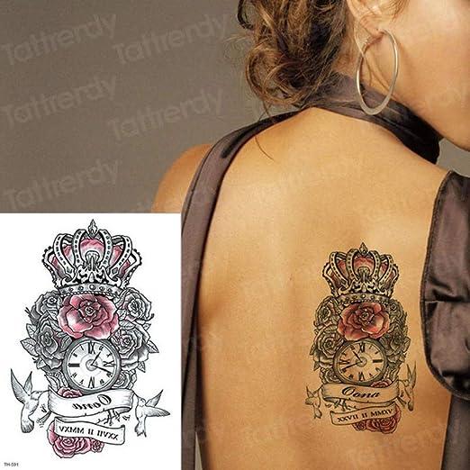 3 Piezas Impermeable Tatuaje Temporal Pegatina Cintura Rosa ...