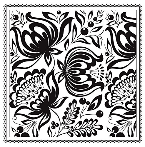 Blossom Magic Beautiful Floral Patterns Coloring Book For