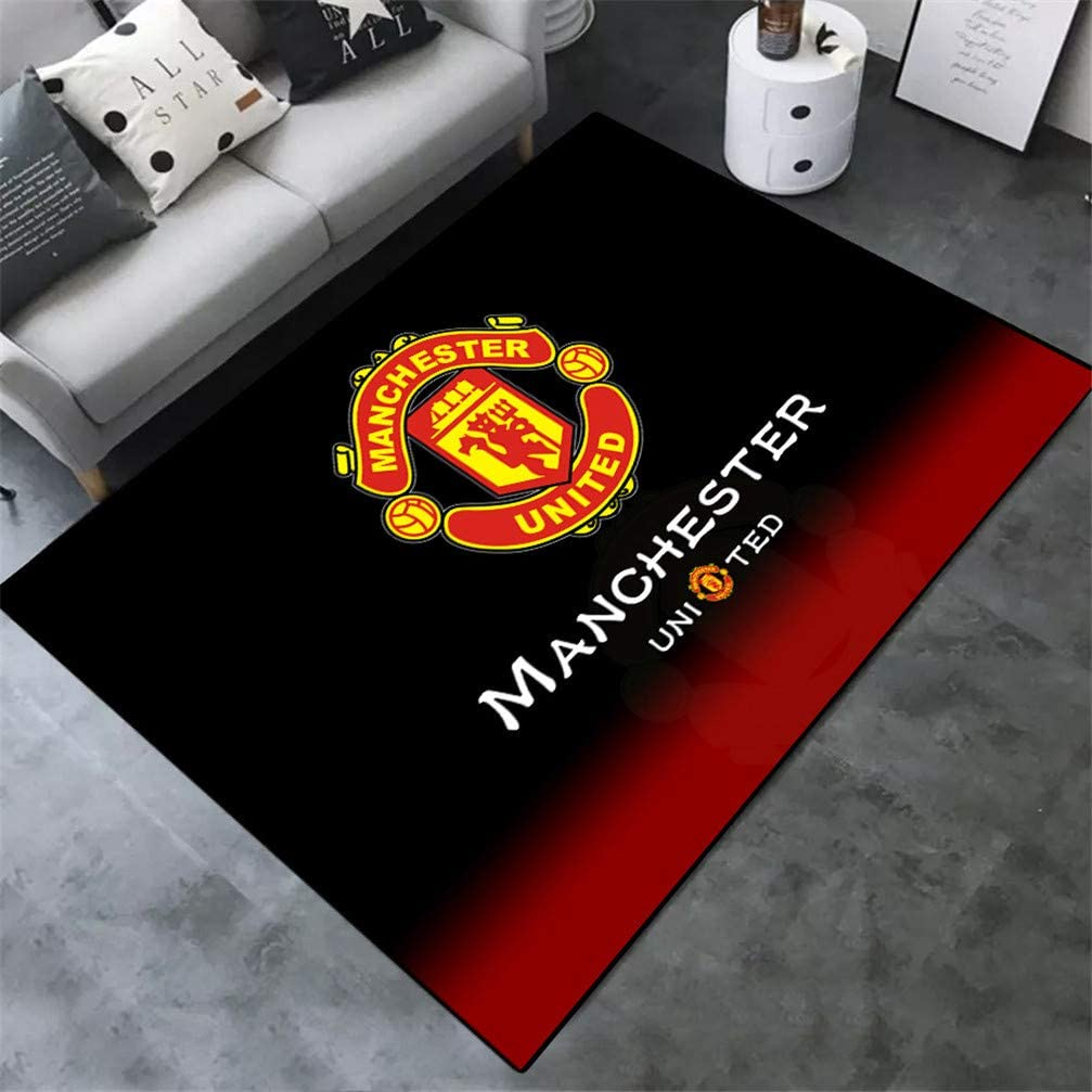 ACJIA Manchester United Pattern Area Rug for Fans Soft Sport Carpet for Living Room Bedroom Children Play Dormitory,B,100/×160cm