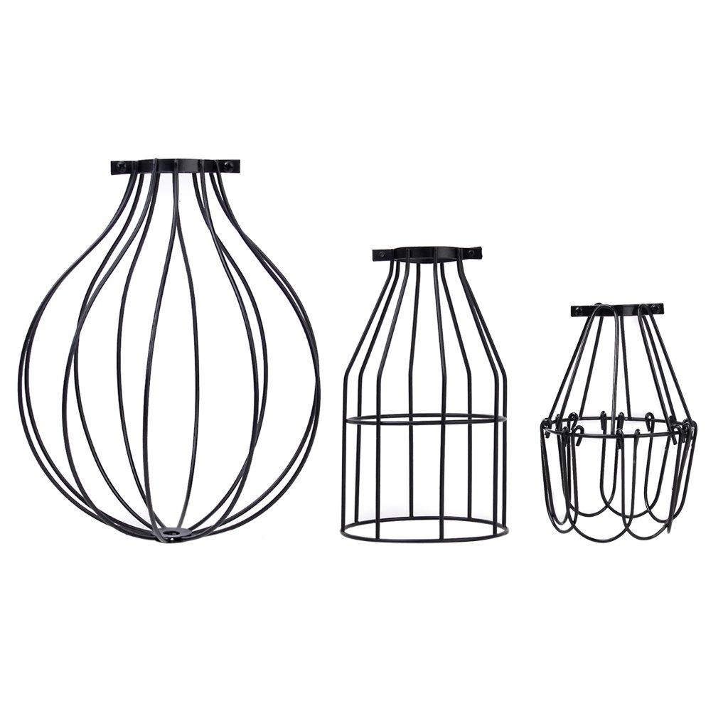 Vintage pendant light chandelier cage hanging lampshade amazon keyboard keysfo Image collections