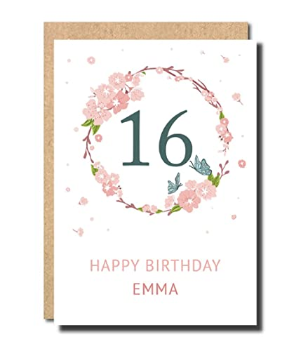 Personalised 16th Birthday Card For Daughter Women Floral Funny Sister Her Handmade Pop Up