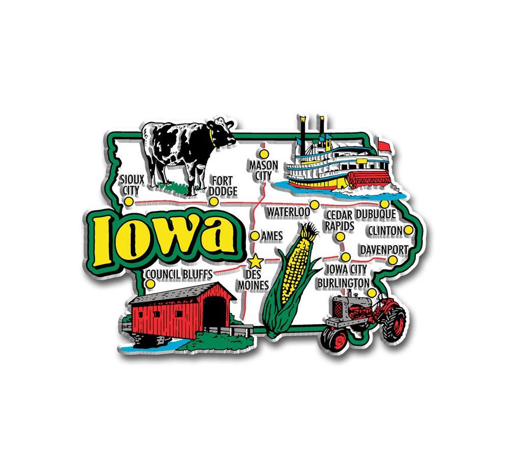 Iowa State Jumbo Map Magnet