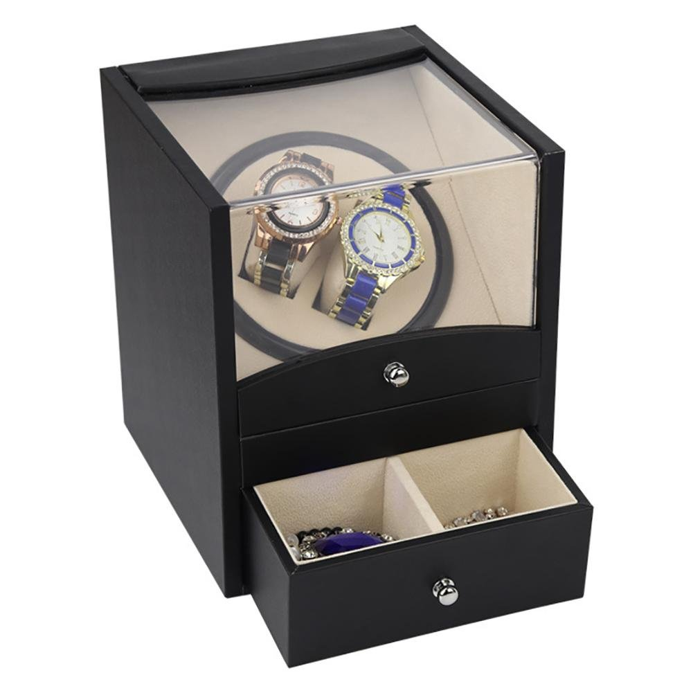 KAIHE-BOX Automatic Watch Winder with Double Watch Box with Drawer,5 colors&Material,1 Timer Modes,Mabuchi Silent Motor,100% quality W115-B , #14