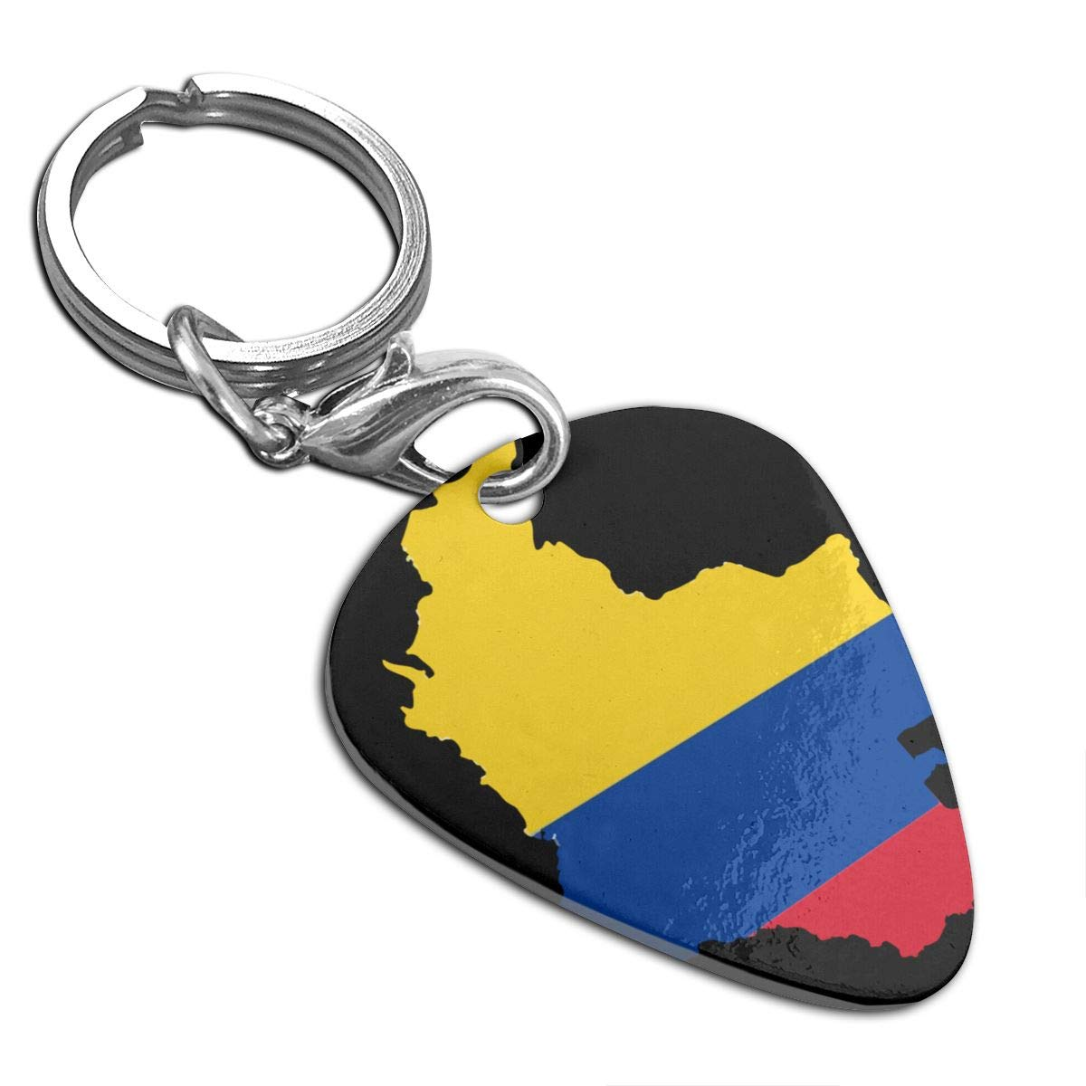 Colombia Flag Map Guitar Pick Necklace Unique Custom Fashion Pet Card Keychain