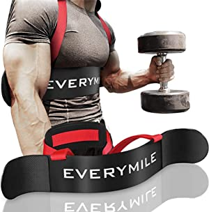EveryMile Fitness Arm Curl Blaster, Sports Arm Blaster, Biceps Triceps Big Arms Bodybuilding Bicep Isolator, Muscle Strength Weight Lifting, Thick Gauge Aluminum, Adjustable Robust Rivets