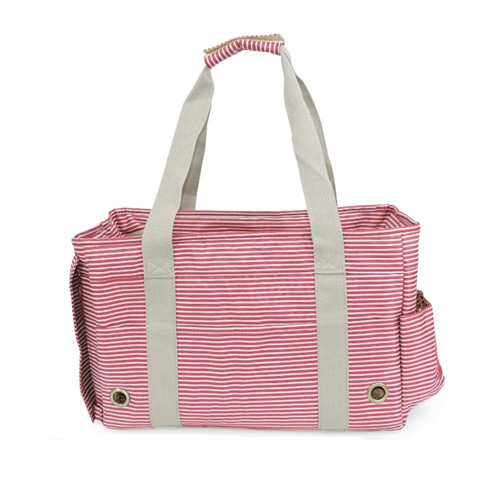 Red Teng Peng Pet out bag, travel bag, portable, foldable, safety buckle, pet carrier, suitable for cats and dogs, pet outing equipment, comfortable and breathable Pet supplies pet bag (color   Silver)