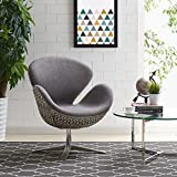 New Pacific Direct 453035-GSDA Beckett Swivel Arm Chair, Diamond Art Gray