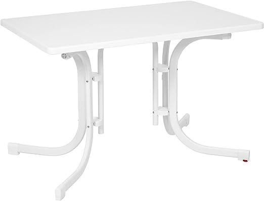 Ribelli Table Pliante Blanc Table de Jardin Table de Camping ...