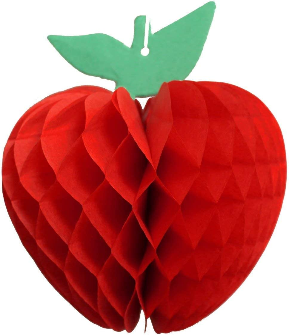 Amazon.com: 11-Pack 11 Inch Red Honeycomb Paper Apple Decoration