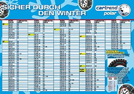 Cartrend 7848230 Schneeketten 2er-Set Safety Gr/ö/ße 30