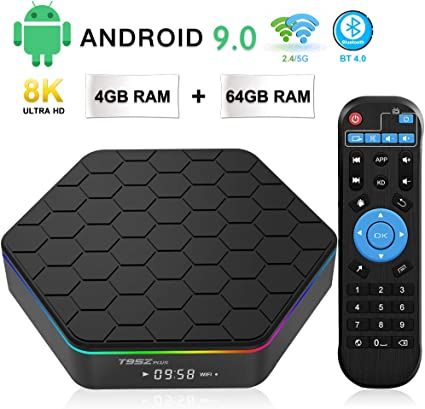 USB 3.0 Smart TV Box Android 9.0 TV Box 4GB RAM 64GB ROM BT 4.0 TICTID TX6 Plus Android TV Box S905X3 Quad-Core 64bit with 8K4K UHD H.265 1000M RJ45 Dual-WiFi 5G//2.4G
