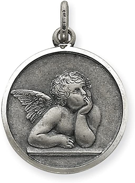Angel Medal Pendant Sterling Silver 925 Good Luck Charm Best Price Jewelry Gift