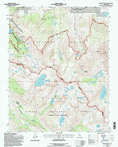 Laurel Glen Reds (Bloody Mtn CA topo map, 1:24000 scale, 7.5 X 7.5 Minute, Historical, 1994, updated 1997, 26.7 x 21.4 IN - Tyvek)