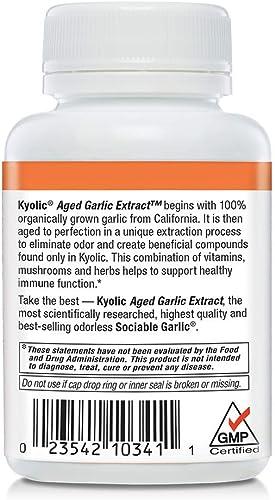 Kyolic Aged Garlic Extract Formula 103 Immune Formula, 100 Capsules