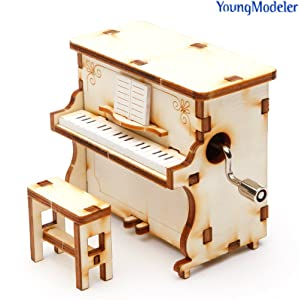 YOUNGMODELER DESKTOP Wooden Assembly Model Kits. (Orgel Piano)