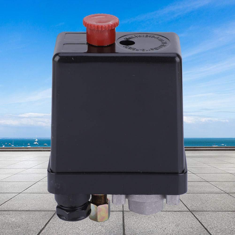 Presostato para compresor de aire con bot/ón de ajuste Single Phase Single Hole