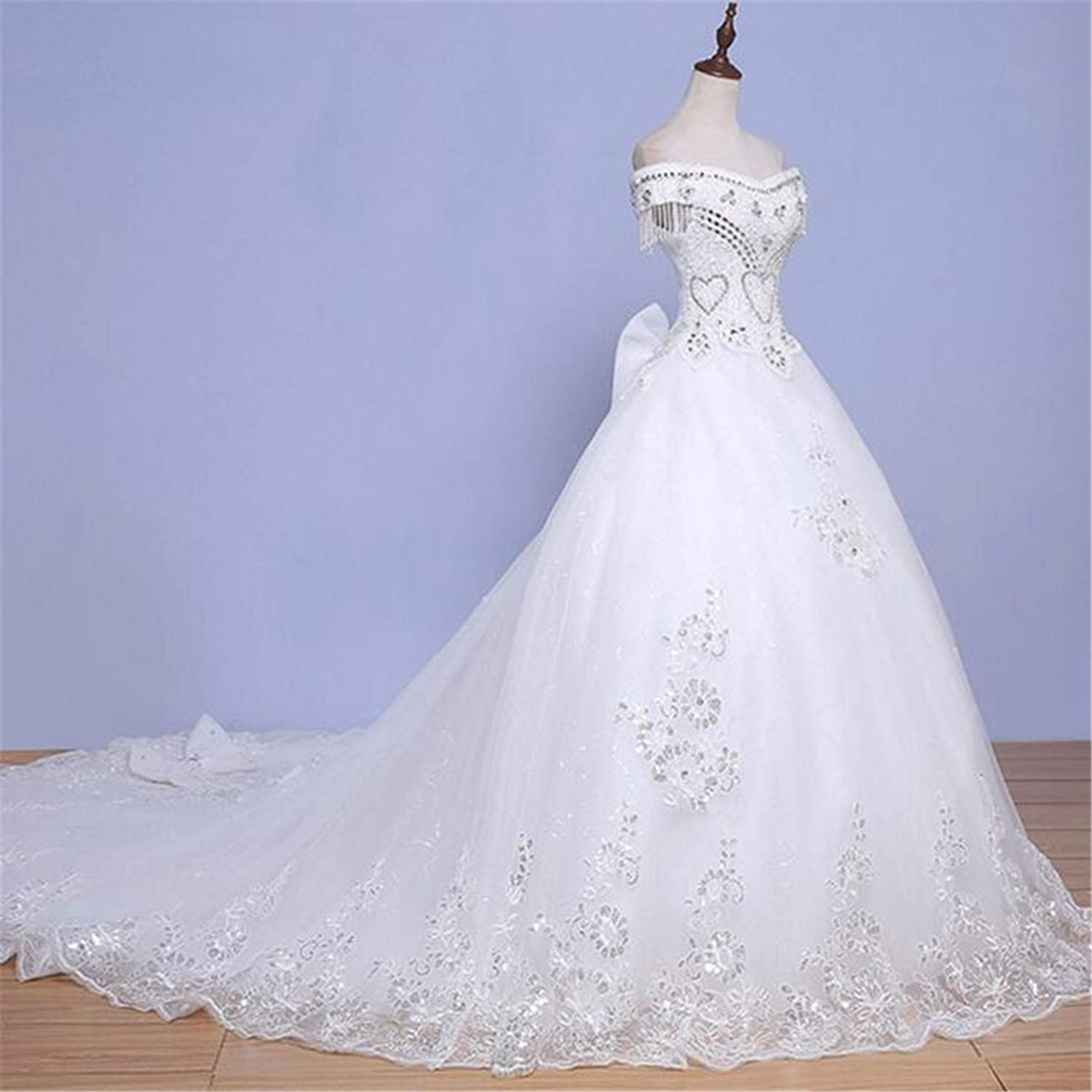 Wedding Dress, for Bride Lace Applique Embroidery Princess Elegant Open Back Strap Simple Slim Marry Party Evening
