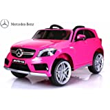Licensed Mercedes A45 12v Kids Electric Ride on Battery Operated Toy Car with Remote Control - Pink Colour with Openable Doors
