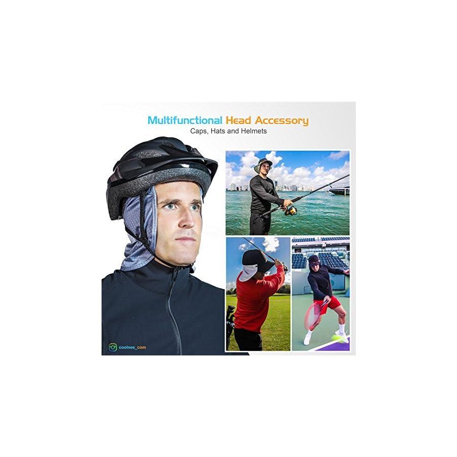 CoolNES Headbands | Neck Flap or Face Mask for Caps | Hats | Hard Hat + Bike + Ski Helmets | UPF 50+ | 10 colors