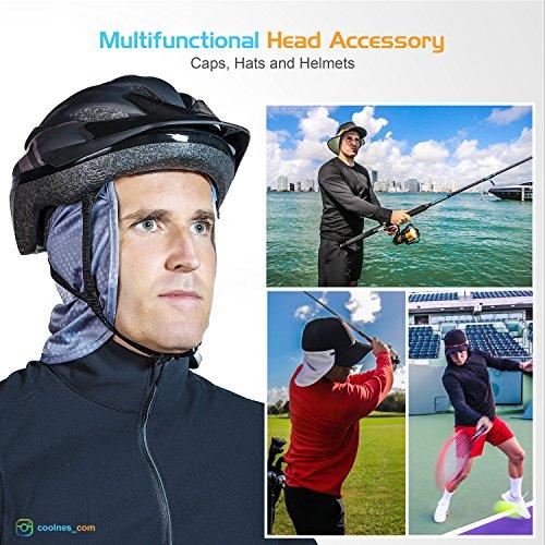 Headbands | 2 in 1 | Neck Flap | Face Mask Shield | Removable Universal Fit | Sun Protection Shade | Caps | Hats | Hard Hat + Bike + Baseball Helmets | UPF 50+ | 10 colors | 2018 | Shark Tank