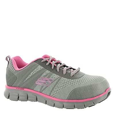 Skechers Work Sure Track Saquenay Alloy Toe Womens Sneakers | Fashion Sneakers