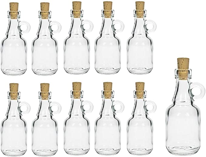 Juego de botellas de cristal de hocz con tapón de corcho, 10 ...