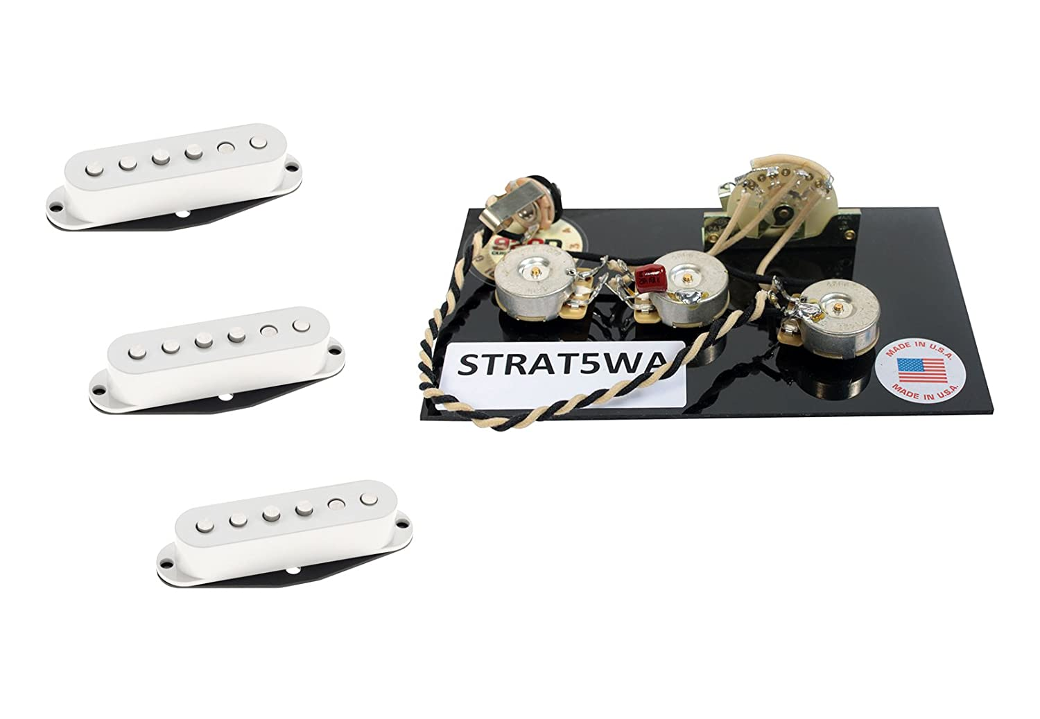Dimarzio True Velvet Pickup Set White For Fender Wiring Schematic Stratocaster Harness Musical Instruments