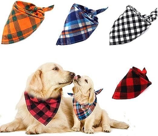 Afufu Pañuelo Baberos para Perros, 4 Piezas-4 Estilos Mascota ...