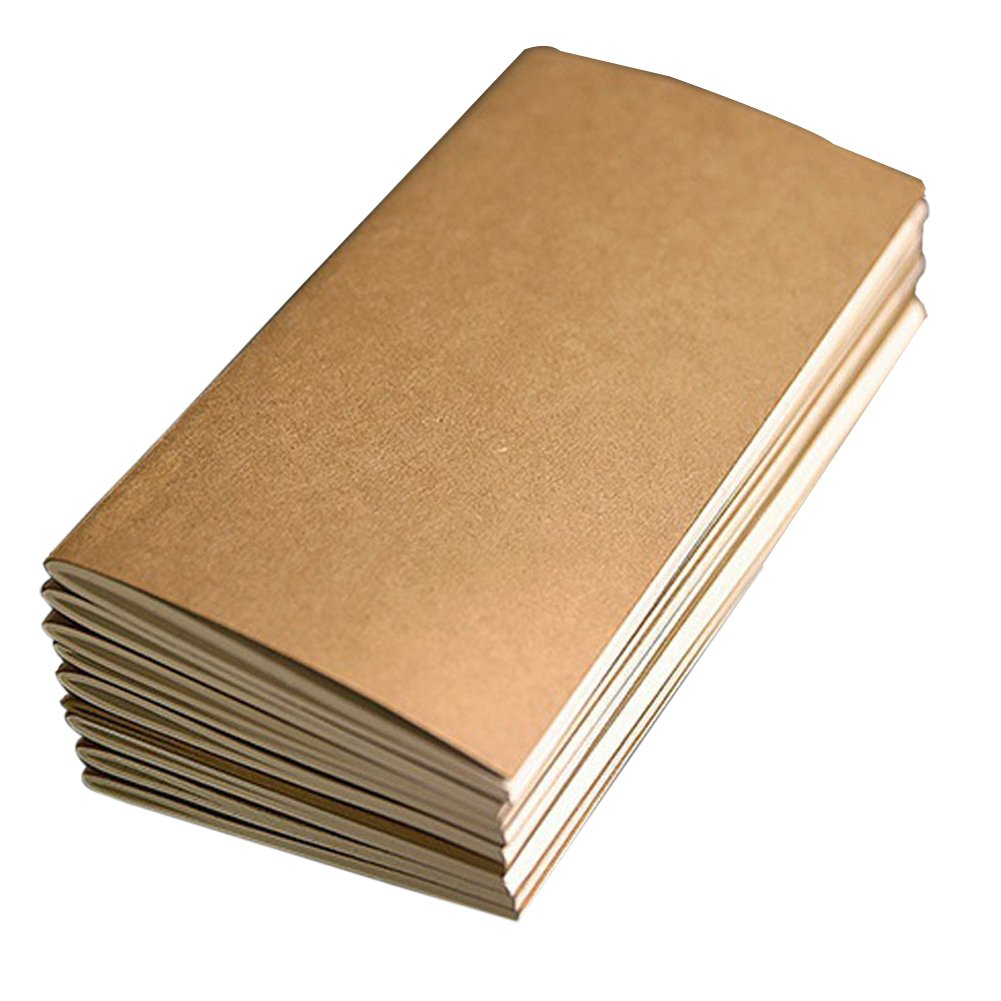 Dytiying Travelers - Recambios para cuaderno de papeles forrados, modelos está ndar, cuadernos de papel kraft, cuaderno de uñ as, cuadernos 4Pcs modelos estándar cuaderno de uñas