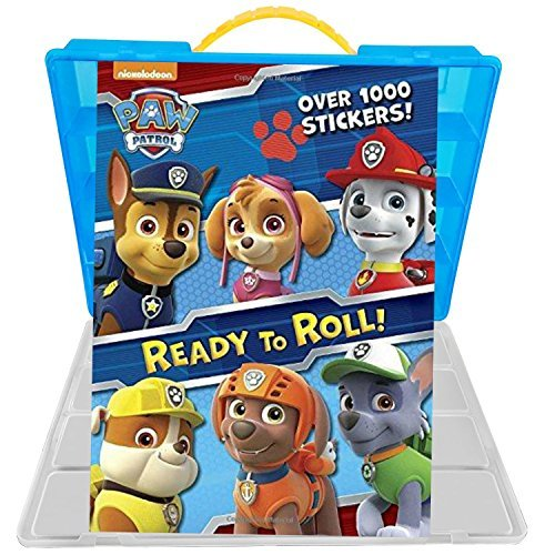 Official Paw Patrol Sticker Book + Mini Figures Compatible Storage Organizer. Stores Up to 30 Mini Figures. Customize Your Children's Storage Box With This Ultimate 1000+ Sticker - Sunglasses Thousand Dollar