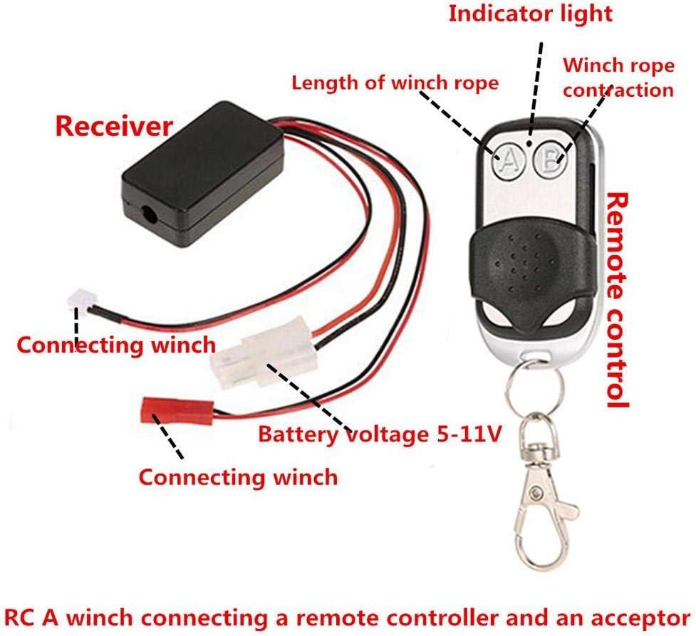 Prosperveil - Kit de controlador de cabrestante para parachoques delantero de coche RC TRAXXAS TRX-4®
