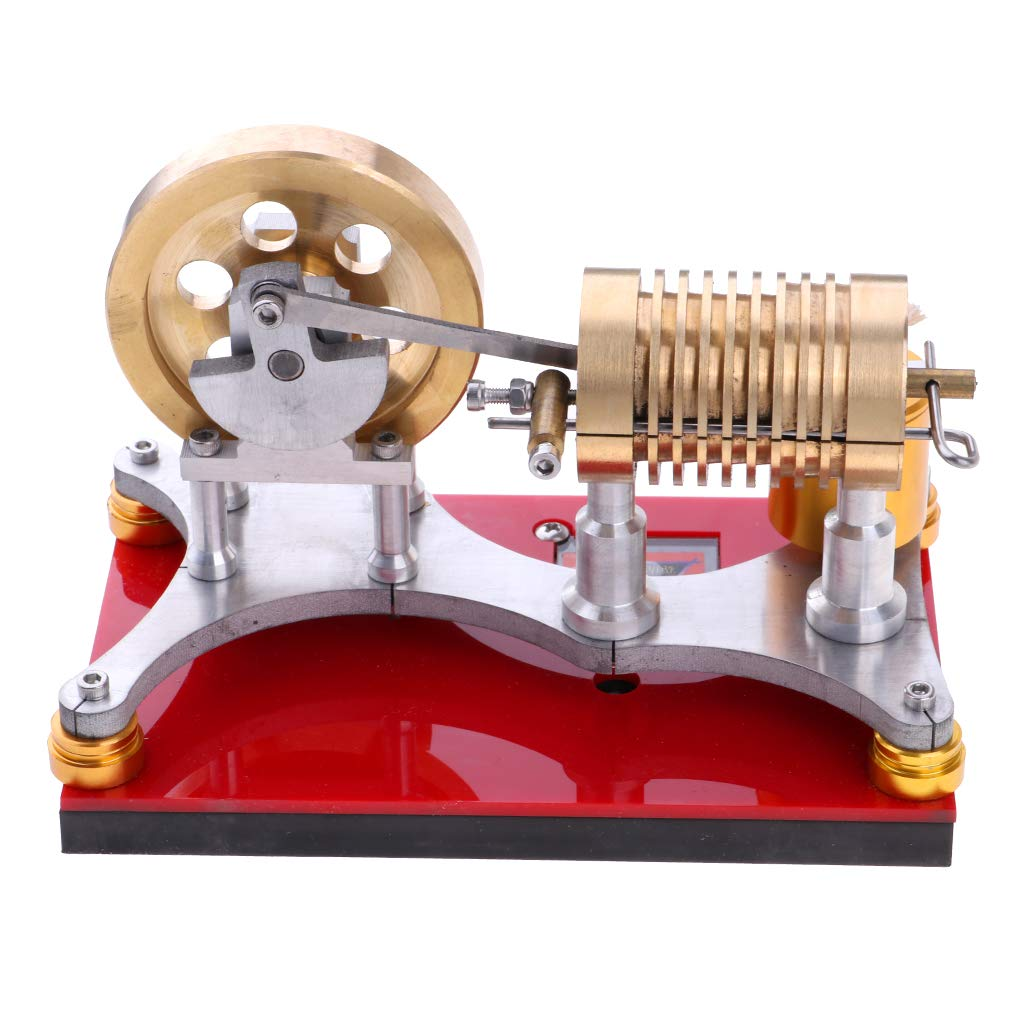 Baoblaze Heat Engine Steam Motor Power Physical Kits Flame Eater Stirling Engine Model Lab Experiment