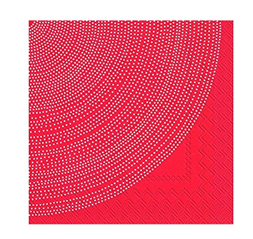 Ideal Home Range Marimekko 20 Count 3 Ply Fokus Paper Lunch Napkins Red