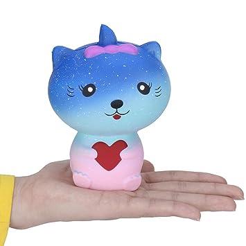 Kobay 1 pieza de juguetes de descompresión para gatos, exclusivos para ti, peluche de juguete para aliviar el estrés, 13 x 9 x 7 cm: Amazon.es: Hogar