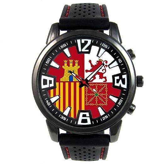 Bandera naval de España Reloj para hombre con correa de silicona: Timest: Amazon.es: Relojes