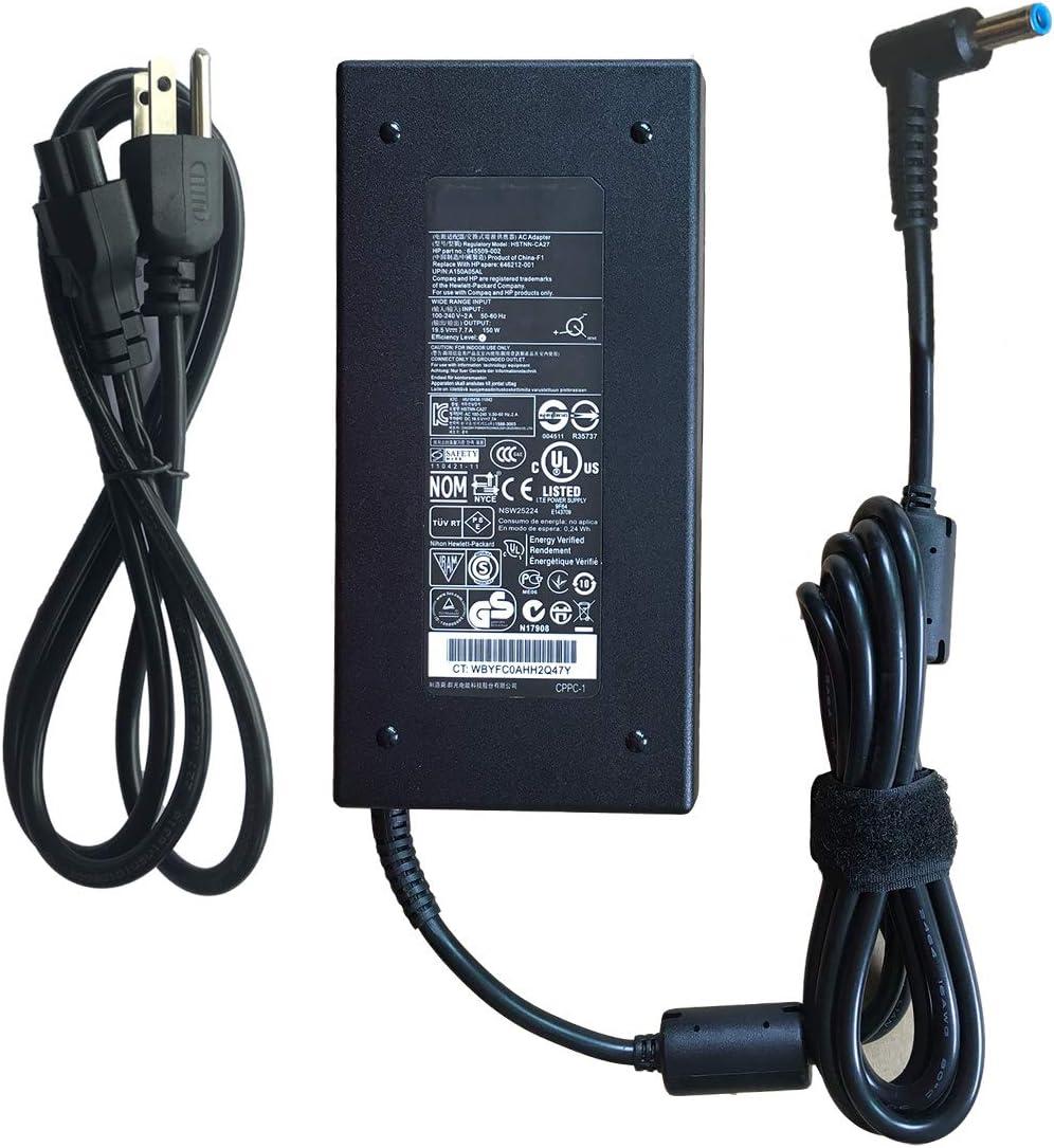 Genuine AC Adapter Laptop Charger 150W 19.5V 7.7A for HP OMEN 17-w043dx,ZBook 15 G3 G4,Studio G3 G4,OMEN 15 775626-003,OMEN 15-CE002LA,15-ce011np,8560W,HSTNN-DA25,ADP-150XB B,A150A05AL,677763-002
