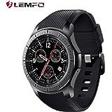 LEMFO LF16スマートウォッチ超薄型腕時計 Nano SIM カード対応 GPS搭載 3G WiFi利用可能 心拍計 歩数計 リモートシャッター 音楽プレーヤー android対応 日本語対応 (ブラック)