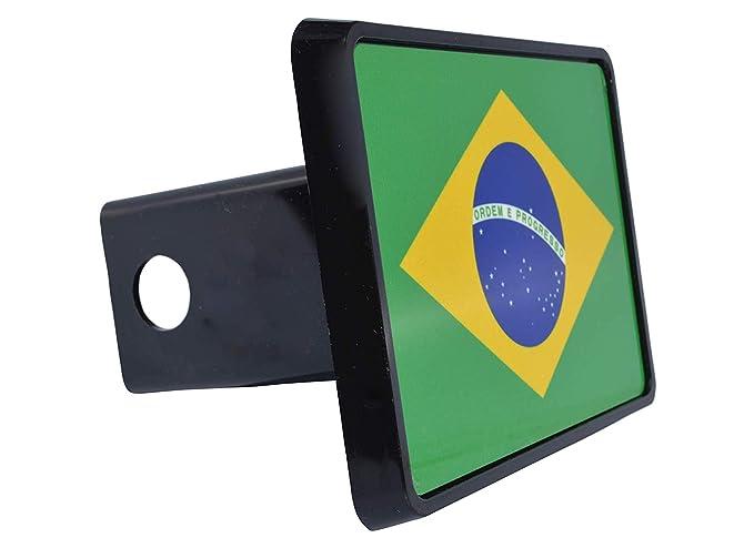 Rogue River Tactical Brazil Brazilian Flag Trailer Hitch Cover Plug Gift Idea VV394