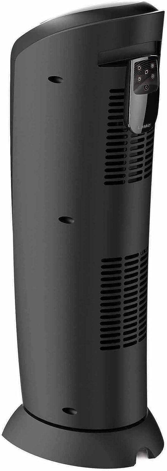Lasko 1500W Electric Ceramic Tower Space Heater Remote Control Black CT22410
