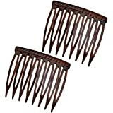 """Good Hair Days Grip Tuth Hair Combs 40072 Set of 2, Clear 1 1/2"""" Wide Combs"""