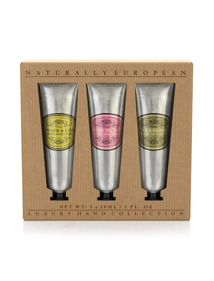 Naturally European - Hand Cream Collection Gift Set - 3 x 30 ml (SLES and Parabens Free)