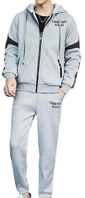 HGYTUjnmk Guay Chándal atlético para Hombre Jogging Sweatsuit ...