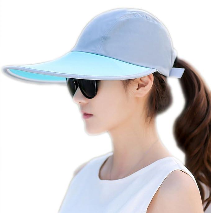 Outdoor Recreation Sports Anti UV Sun Hat Wide Brim Baseball Cap Large Sun  Visor da6daf6bf8b