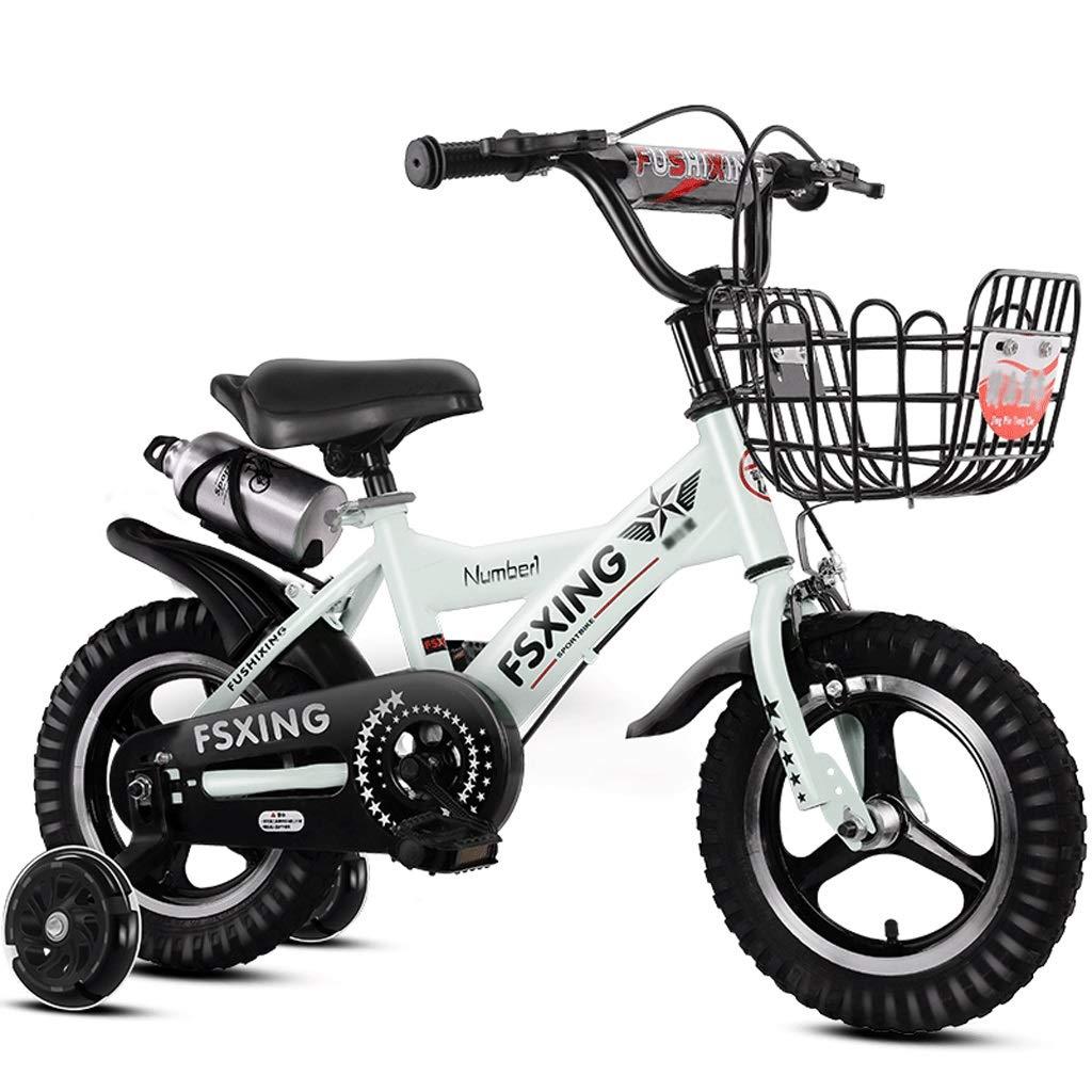 blanco LI HAO SHOP Bicicletas para niños, Bicicletas para bebés, Bicicletas de montaña para niños, Bicicletas de montaña, Regalos para niños, Llantas de aleación de Aluminio, Ruedas auxiliares Intermitentes